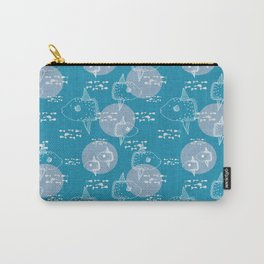 Mola Mola Blue-Ocean sunfish Carry-All Pouch