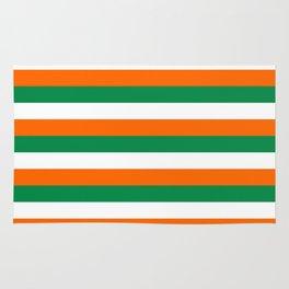 ireland ivory coast miami niger flag stripes Rug