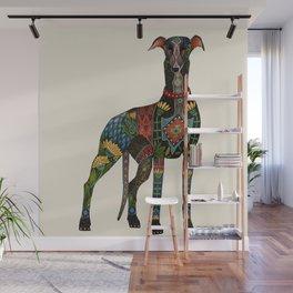 greyhound ivory Wall Mural