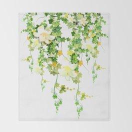 Watercolor Ivy Throw Blanket
