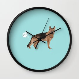 german shepherd funny farting dog breed gifts Wall Clock