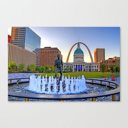 Kiener Plaza in St. Louis, Missouri Canvas Print