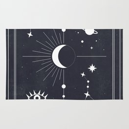 The Moon or La Lune Tarot Rug