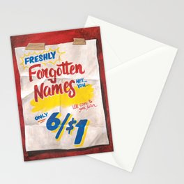 Forgotten Names Stationery Cards
