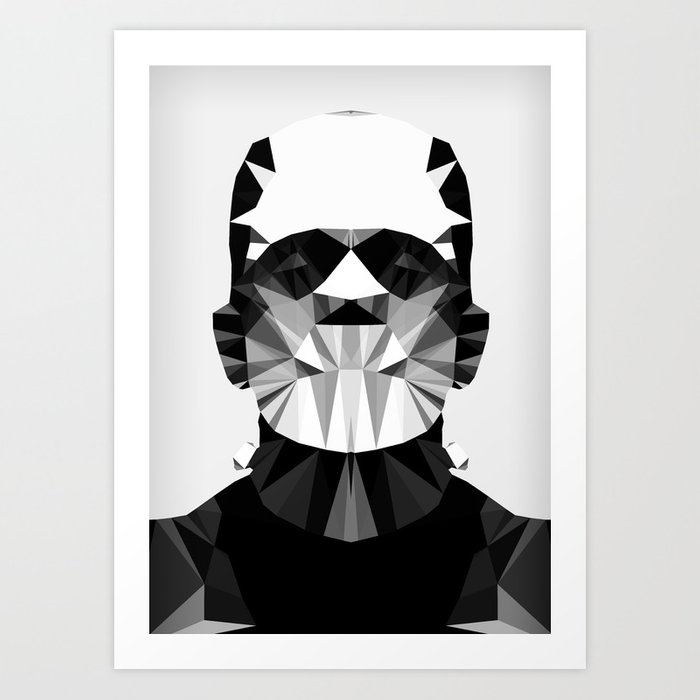 Polygon Heroes - The Horror Art Print