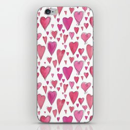 Watercolor My Heart (Small) by Deirdre J Designs iPhone Skin