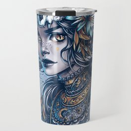 Night Cat Witch Travel Mug