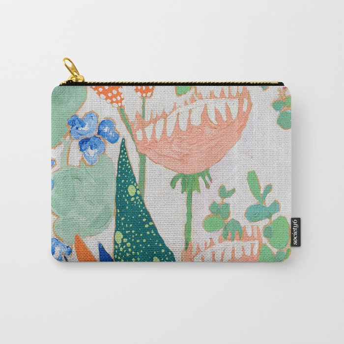 Proteas and Birds of Paradise Painting Carry-All Pouch