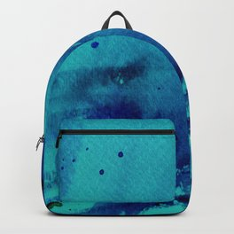 Watercolor Splash Blue Backpack