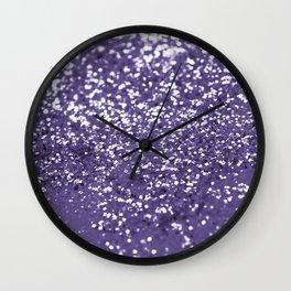 Sparkling ULTRA VIOLET Lady Glitter #1 #shiny #decor #art #society6 Wall Clock