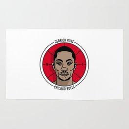 Derrick Rose Badge Illustration Rug