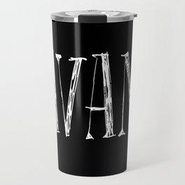 Savant - white on black version Travel Mug