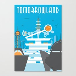 Tomorrowland Travel Poster Canvas Print