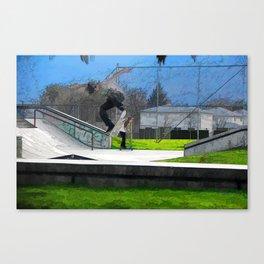 Skateboarding Fool Canvas Print