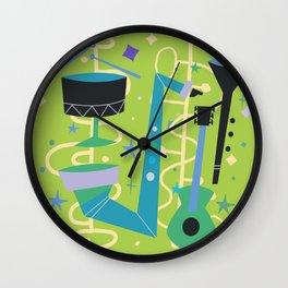 Midcentury Modern Fifties Jazz Composition Wall Clock