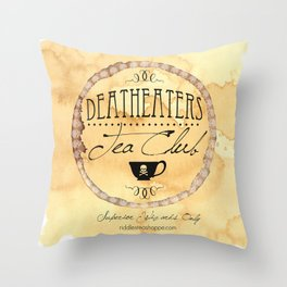Riddle's Tea Shoppe Deatheaters Tea Club Throw Pillow