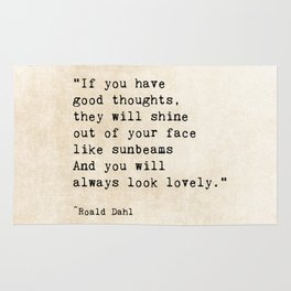 Roald Dahl Lovely Quote Rug