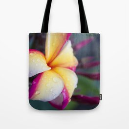 Hawaii Plumeria Flower Jewels Tote Bag