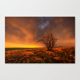 Fascinations - Warm Light and Rumbles of Thunder in Oklahoma Canvas Print