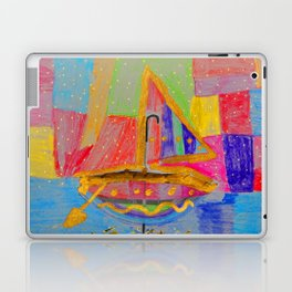 When an umbrella transforms into a boat on Christmas night Laptop & iPad Skin