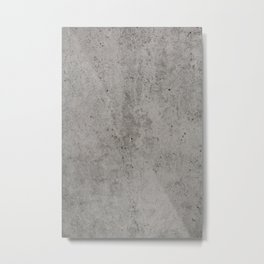Grey Concrete Metal Print