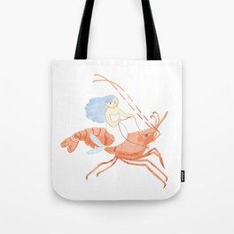 The Magnificent Shrimp Rider Tote Bag
