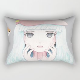 Zazi-White Rectangular Pillow