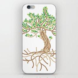 Rope Tree of Life. Rope Dojo 2017 white background iPhone Skin