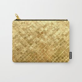 Golden Checkerboard Carry-All Pouch