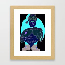 Drunk Santa Framed Art Print