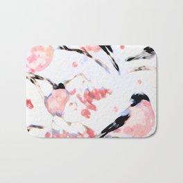 Christmas Seamless Bird Pattern Bath Mat
