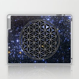 Flower of life in the space Laptop & iPad Skin