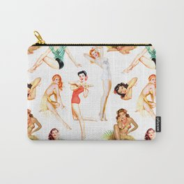Vintage Tropical Hawaiian Pinup Girls Carry-All Pouch