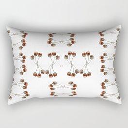 Dentelle aux fuseaux, épingles à tête de corail Rectangular Pillow