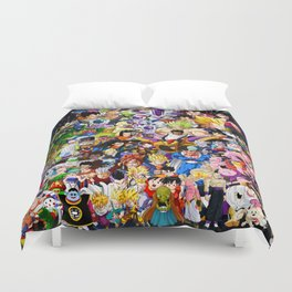 Dragon ball characters Duvet Cover