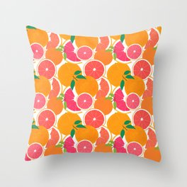 Grapefruit Harvest Throw Pillow