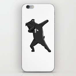 Funny Dabbing Staffordshire Bull Terrier Dog Dab Dance iPhone Skin