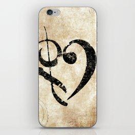 I Heart Music iPhone Skin
