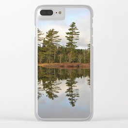 Autumn Reflector Clear iPhone Case