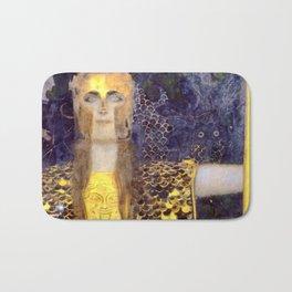 """Gustav Klimt """"Pallas Athene"""" Bath Mat"""