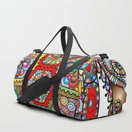 Colorful Sea Turtle Abstract Mandala Duffle Bag