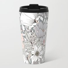 Seamless pattern design with hand drawn flowers and floral elements Travel Mug