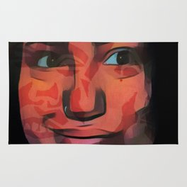 Smile camouflages the scars Rug