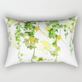 Watercolor Ivy Rectangular Pillow