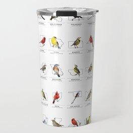 50 State Birds (White) Travel Mug