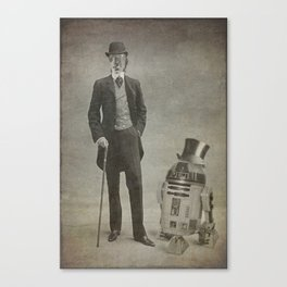 C3PO and R2D2 -R2D2 and c3po Poster Canvas Print