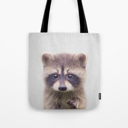 Raccoon - Colorful Tote Bag