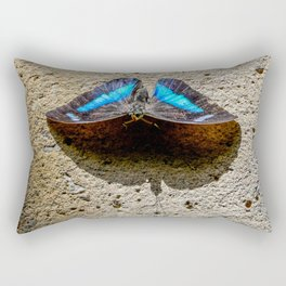 Blue Morpho Butterfly by Teresa Thompson Rectangular Pillow