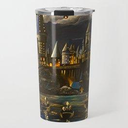 Hogwarts at Starry night Travel Mug