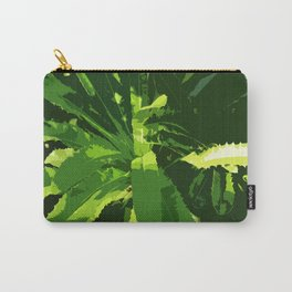 Green Leafes Abstract Carry-All Pouch